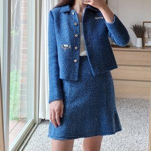 SET sandro tweed jacket skirt